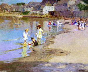 Edward Henry Potthast - Children Playing at the Beach