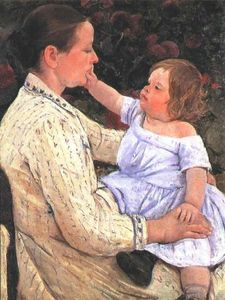 Mary Stevenson Cassatt - The Child's Caress