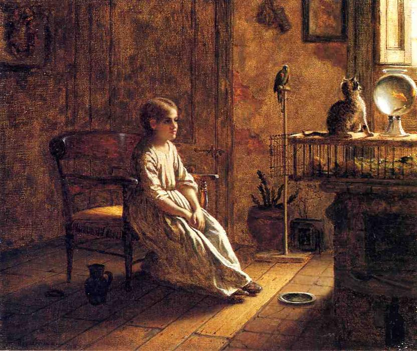 A Child's Menagerie, Oil On Canvas by Jonathan Eastman Johnson (1824-1906, United Kingdom)