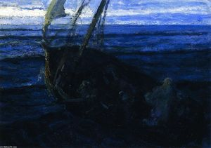 Henry Ossawa Tanner - Christ and His Desciples on the Sea of Galilee
