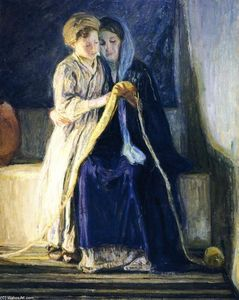 Henry Ossawa Tanner - Christ and His Mother Studying the Scriptures