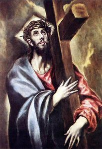 El Greco (Doménikos Theotokopoulos) - Christ carrying the cross