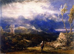 Samuel Palmer - Christian Descending into the Valley of Humiliation