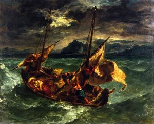 Eugène Delacroix - Christ on the Sea of Galilee