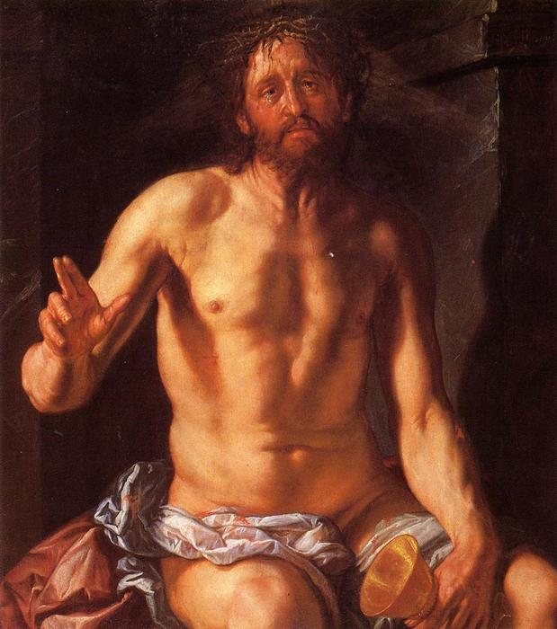 Christ the Redeemer, 1613 by Hendrick Goltzius (1558-1617, Italy) | Art Reproductions Hendrick Goltzius | WahooArt.com