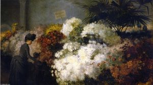 Order Museum Quality Reproductions : The Chrysanthemum Show, 1886 by Abbott Fuller Graves (1859-1936, United States) | WahooArt.com