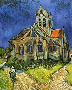 Vincent Van Gogh - Church at Auvers (also known as The Church at Auvers)