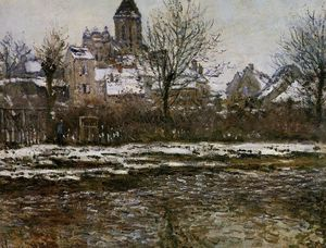 Claude Monet - The Church at Vetheuil, Snow