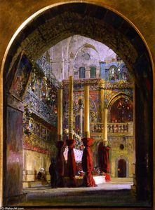 Vasily Dmitrievich Polenov - Church of the Holy Sepulcher, Interior (study)