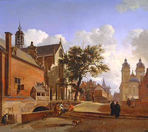 Jan Van Der Heyden - Church of Jesus landscape