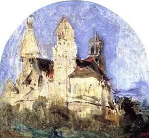 Théodore Rousseau (Pierre Etienne Théodore Rousseau) - The Church of Saint Lou d'Esserant in the Oise