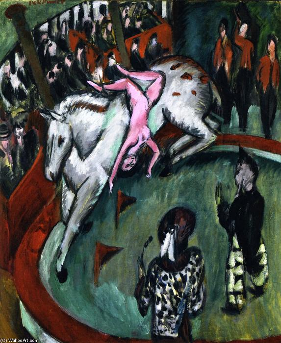 Circus (also known as Circus Rider), 1913 by Ernst Ludwig Kirchner (1880-1938, Germany) | WahooArt.com