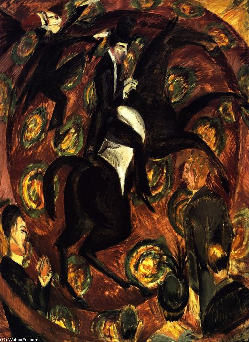 Circus Rider, 1914 by Ernst Ludwig Kirchner (1880-1938, Germany) | WahooArt.com