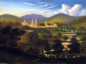 Thomas Chambers - City in a River Valley [Springfield, Massachusetts]