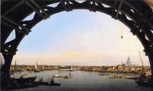 Giovanni Antonio Canal (Canaletto) - The City Seen Through an Arch of Westminster Bridge