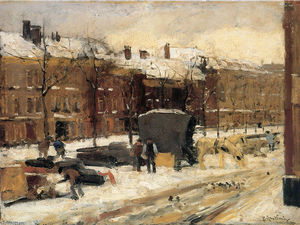 Pieter Florentius Nicolaas Jacobus Arntzenius - City View In The Snow