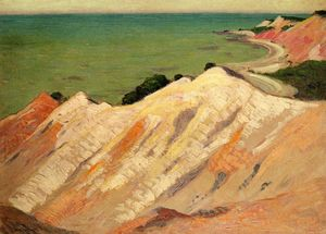Arthur Wesley Dow - The Clay Cliff, Gay Head, Massachusetts