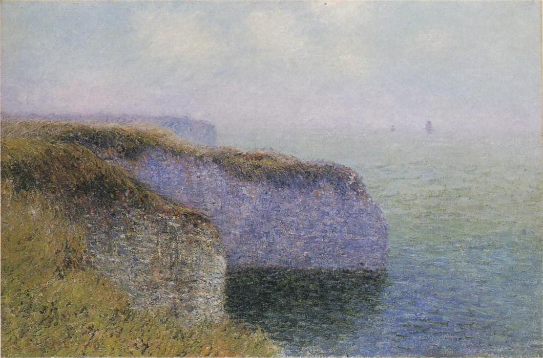 Cliffs of Etretat, 1902 by Gustave Loiseau (1865-1935, France) | Painting Copy | WahooArt.com