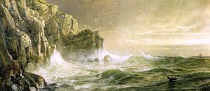 William Trost Richards - The Coast of Cornwall