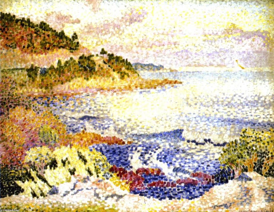 Coast of Provence, 1906 by Henri Edmond Cross (1856-1910, France) | Famous Paintings Reproductions | WahooArt.com