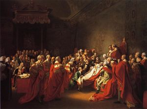 John Singleton Copley - The Colapse of the Earl of Chatham in the House of Lords (also known as The Death of the Earl of Chatham)