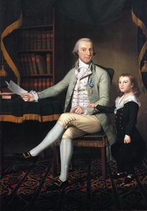 Ralph Earl - Colonel Benjamin Tallmadge and son William Tallmadge