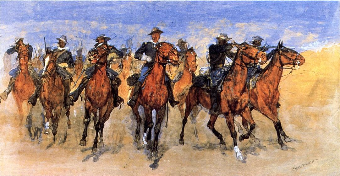 Colored Troopers to the Rescue, Painting by Frederic Remington (1861-1909, United States)