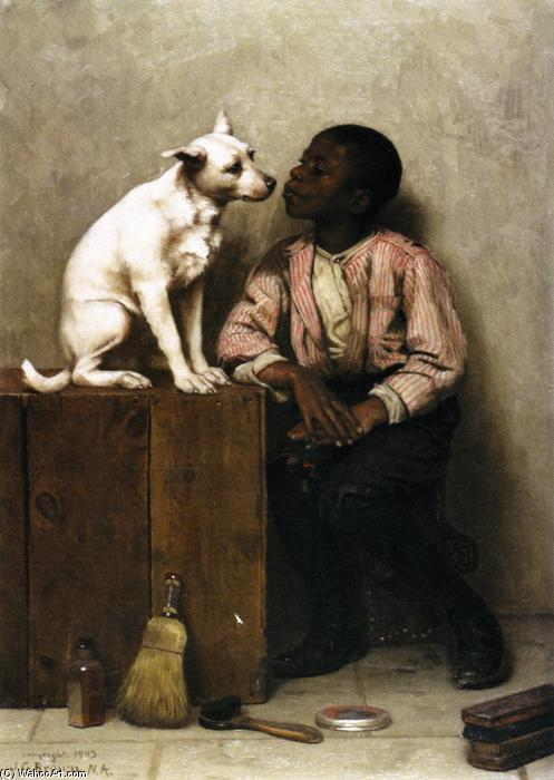 Color no Objection, Oil On Canvas by John George Brown (1831-1913, United Kingdom)