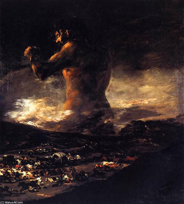The Colossus, 1812 by Francisco De Goya (1746-1828, Spain) | Famous Paintings Reproductions | WahooArt.com