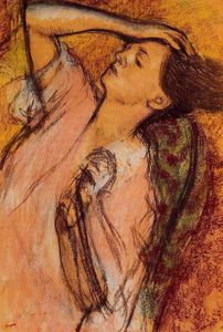 Order Art Reproduction : Combing the Hair, 1896 by Edgar Degas (1834-1917, France) | WahooArt.com