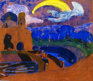 Wassily Kandinsky - The Comet (also known as Night Rider-)