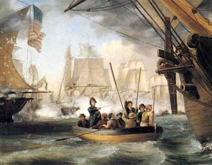 Thomas Birch - Commodore Perry Leaving the Lawrence'' for the ''Niagara: at the Battle of Lake Erie''