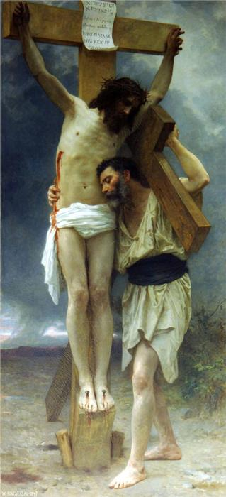 Compassion, Oil On Canvas by William Adolphe Bouguereau (1825-1905, France)