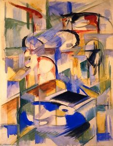 Franz Marc - Composition of Animals