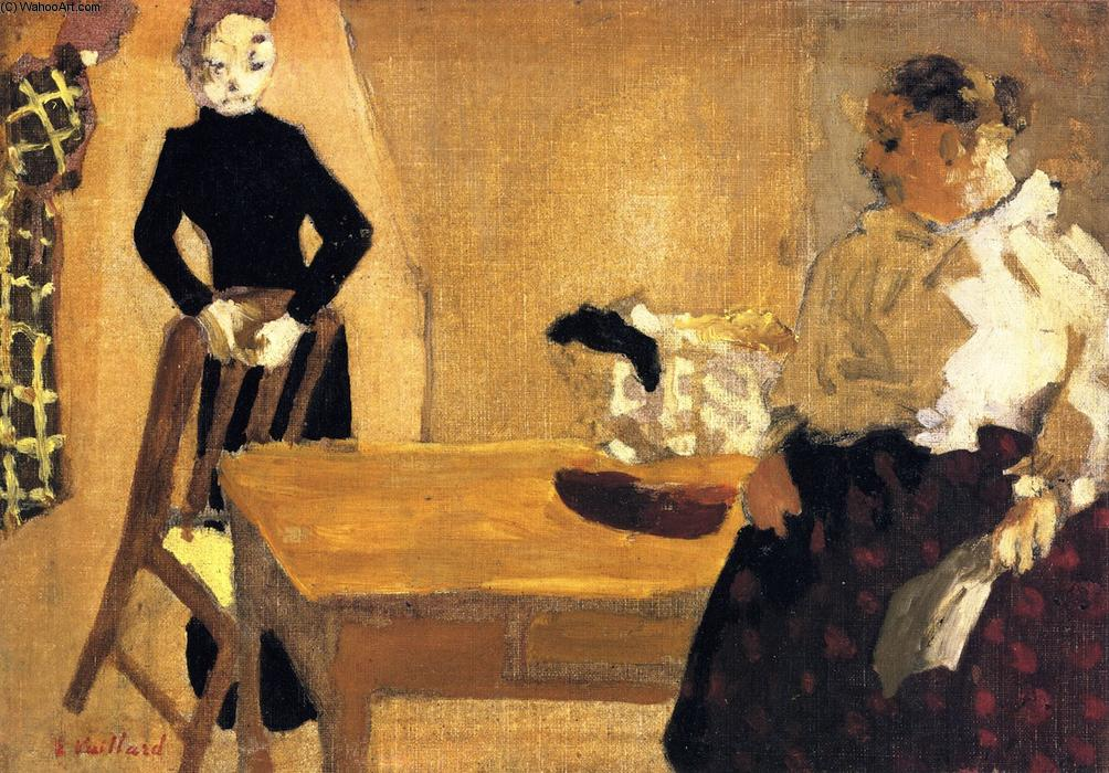 The Conversation, Oil On Canvas by Jean Edouard Vuillard (1868-1940, France)