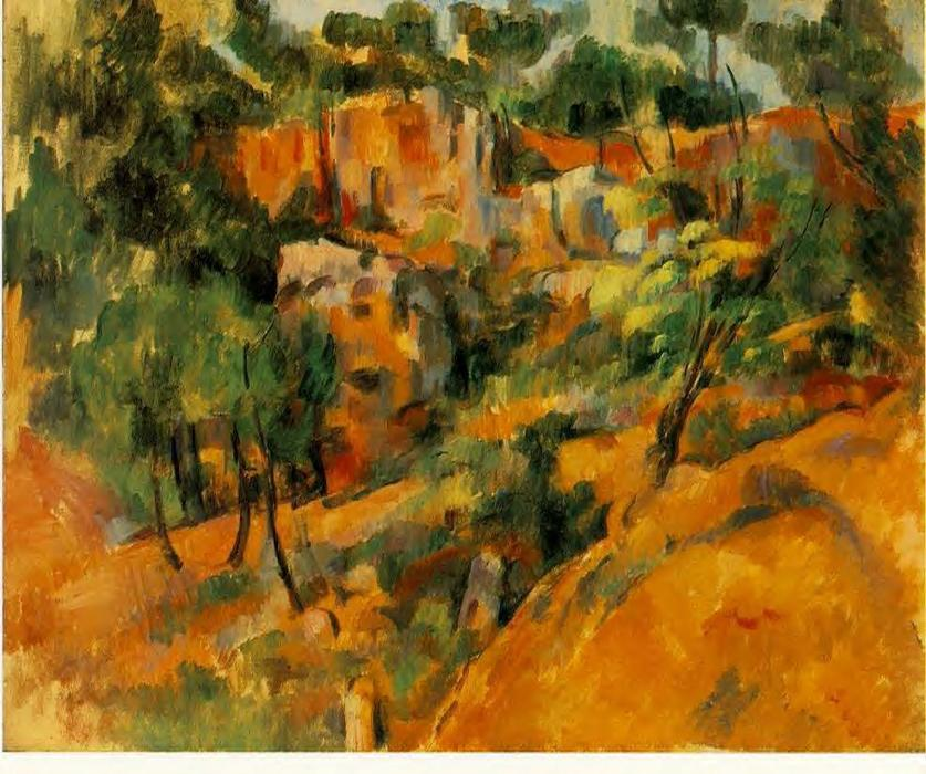 Corner of the Quarry, Oil On Canvas by Paul Cezanne (1839-1906, France)