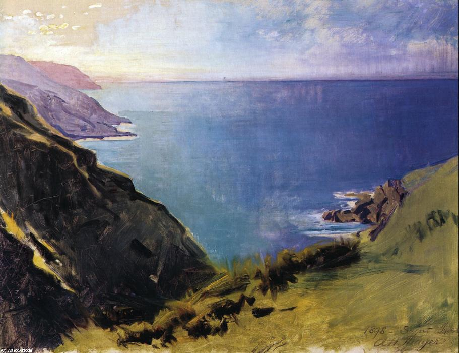 Cornish Headlands, Oil On Canvas by Abbott Handerson Thayer (1849-1921, United States)