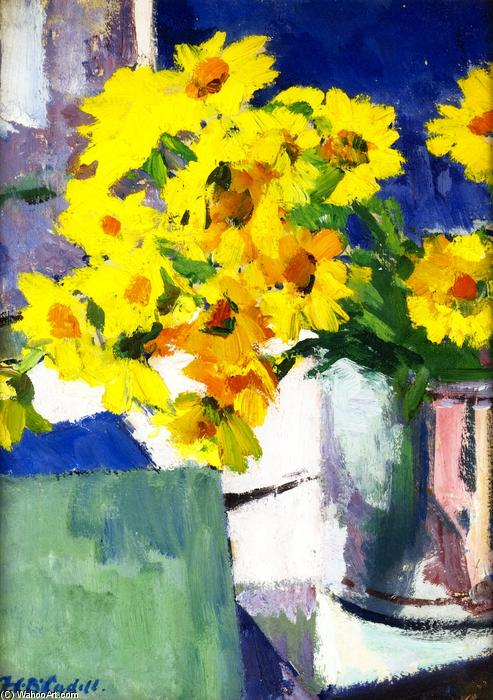 Corn Marigolds by Francis Campbell Boileau Cadell (1883-1937) | Painting Copy | WahooArt.com