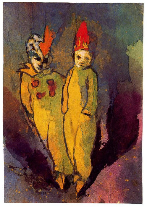 Costumed Couple by Emile Nolde (1867-1956, Germany) | Museum Quality Reproductions | WahooArt.com