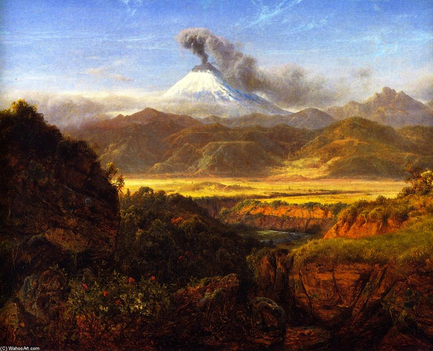 Cotopaxi, Oil On Canvas by Louis Remy Mignot (1831-1870, United States)