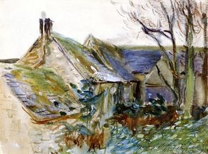 John Singer Sargent - Cottage at Fairford, Gloucestershire (also known as Outbuildings, Morgan Hall)