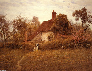 Helen Allingham (Helen Mary Elizabeth Paterson) - Cottage at Pinner