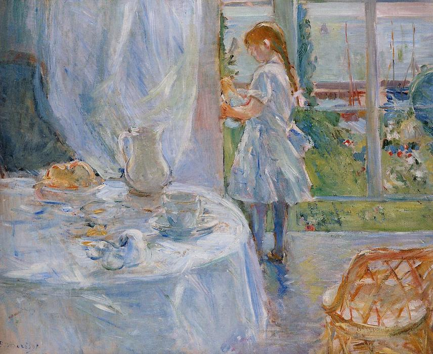 Cottage Interior (also known as Interior at Jersey), 1886 by Berthe Morisot (1841-1895, France) | Oil Painting | WahooArt.com
