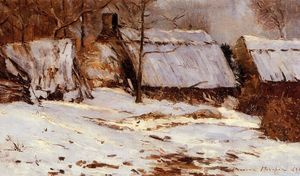Maxime Emile Louis Maufra - Cottages in the Snow