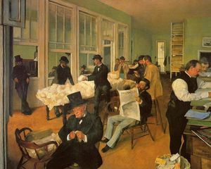 Edgar Degas - The Cotton Exchange in New Orleans