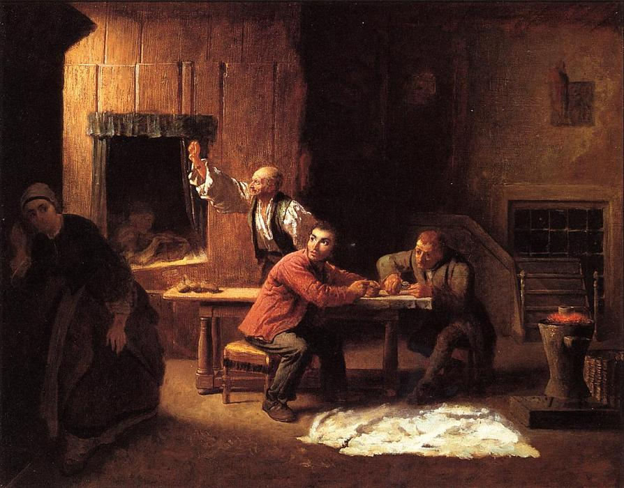 The Counterfeiters, Oil On Canvas by Jonathan Eastman Johnson (1824-1906, United Kingdom)