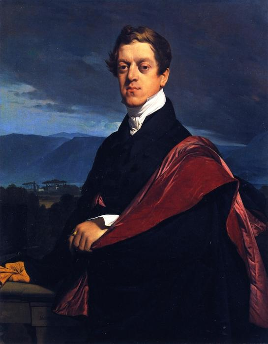Count Nikolai Dmitrievich Gouriev, Oil On Canvas by Jean Auguste Dominique Ingres (1780-1867, France)