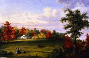 Cornelius David Krieghoff - The Country House of Capt. John Walker, near Quebec