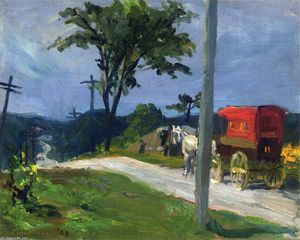 John Sloan - Country Road
