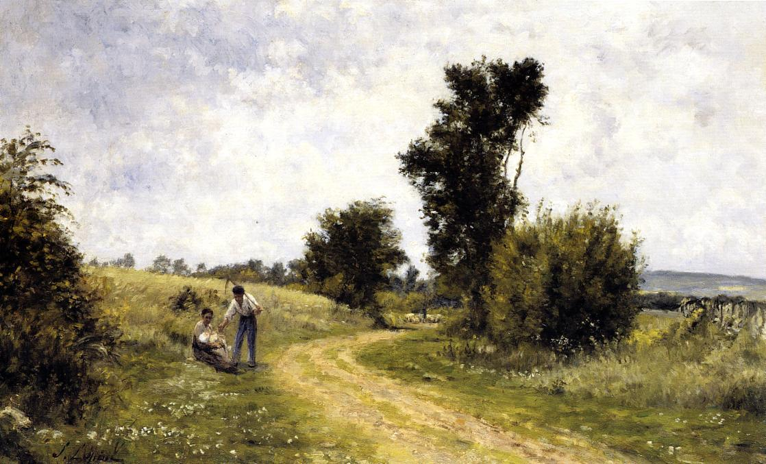 Country Road, 1878 by Stanislas Lepine (1835-1892, France) | Museum Art Reproductions Stanislas Lepine | WahooArt.com